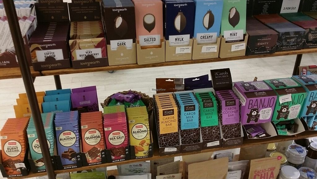 """Photo of Biome Eco Stores  by <a href=""""/members/profile/Mike%20Munsie"""">Mike Munsie</a> <br/>vegan chocolate <br/> May 4, 2017  - <a href='/contact/abuse/image/74537/255432'>Report</a>"""