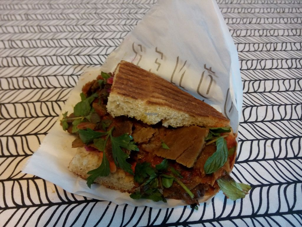 """Photo of Döner Harju  by <a href=""""/members/profile/Lapa"""">Lapa</a> <br/>Bread with seitankebab <br/> September 7, 2016  - <a href='/contact/abuse/image/74542/174080'>Report</a>"""