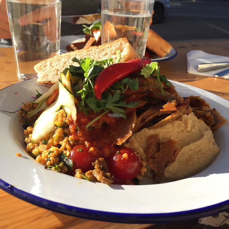 """Photo of Döner Harju  by <a href=""""/members/profile/nonnis"""">nonnis</a> <br/>Seitan plate, vegan <br/> October 6, 2016  - <a href='/contact/abuse/image/74542/180077'>Report</a>"""