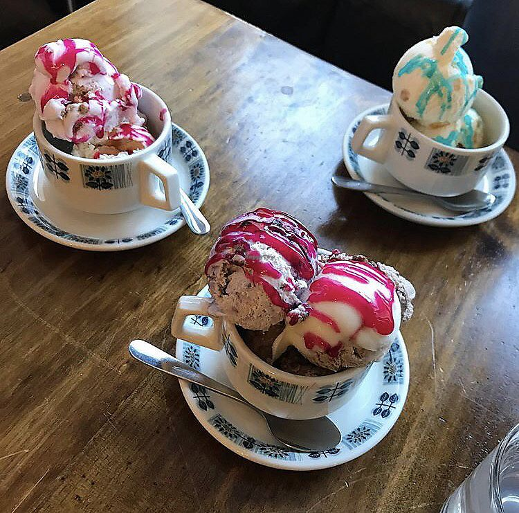 """Photo of Ice Shack   by <a href=""""/members/profile/bethanmariehill"""">bethanmariehill</a> <br/>strawberry shortcake, salted caramels, chocolate peanut butter and blueberry ice creams  <br/> July 29, 2017  - <a href='/contact/abuse/image/74553/286401'>Report</a>"""