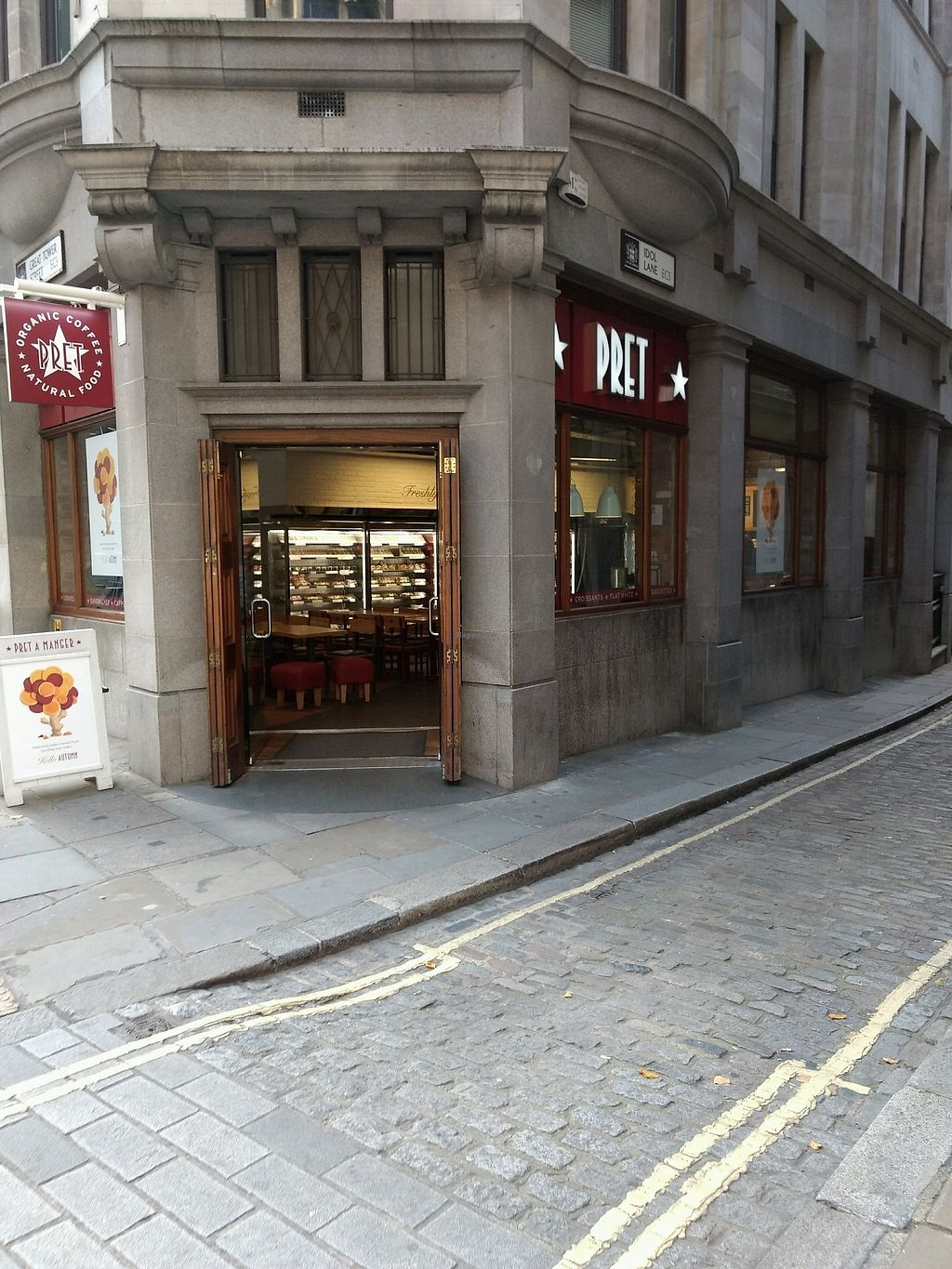 """Photo of Pret A Manger - Great Tower St  by <a href=""""/members/profile/craigmc"""">craigmc</a> <br/>pret <br/> October 17, 2017  - <a href='/contact/abuse/image/74560/316028'>Report</a>"""
