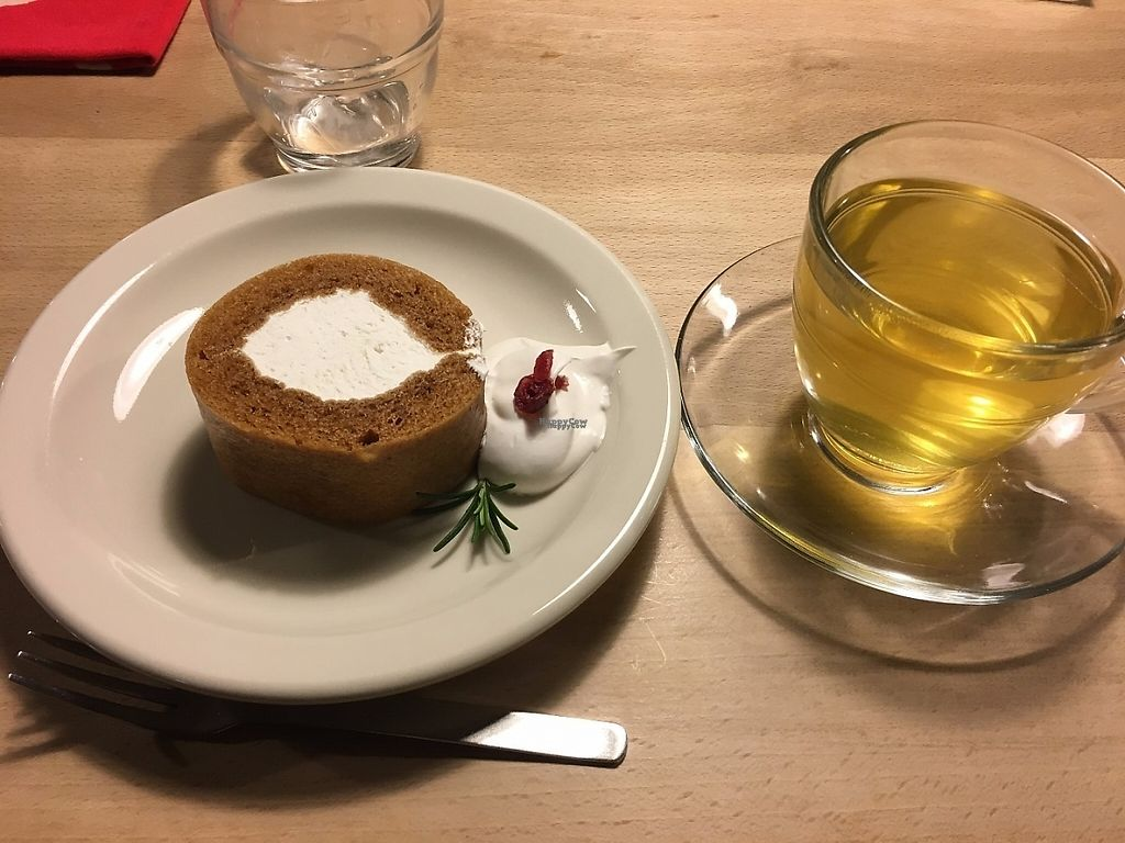 "Photo of Lady Bird Kitchen  by <a href=""/members/profile/graceless02"">graceless02</a> <br/>Cake role with soy cream and herb tea <br/> February 27, 2017  - <a href='/contact/abuse/image/74589/230909'>Report</a>"