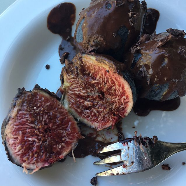 """Photo of Gioia Plant-Based Cuisine  by <a href=""""/members/profile/Drama-Liz"""">Drama-Liz</a> <br/>Organic figs, dark chocolate glaze <br/> September 21, 2016  - <a href='/contact/abuse/image/74628/177233'>Report</a>"""