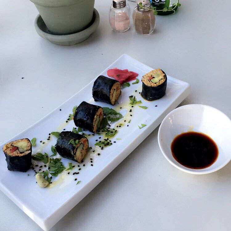 """Photo of Gioia Plant-Based Cuisine  by <a href=""""/members/profile/MMorgen"""">MMorgen</a> <br/>Vegan sushi <br/> September 22, 2016  - <a href='/contact/abuse/image/74628/177351'>Report</a>"""
