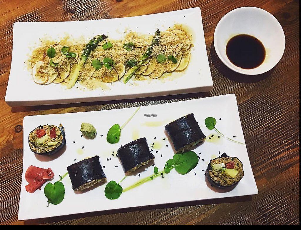 "Photo of Gioia Plant-Based Cuisine  by <a href=""/members/profile/Latanska"">Latanska</a> <br/>Delicious sushi & carpaccio <br/> November 14, 2016  - <a href='/contact/abuse/image/74628/190234'>Report</a>"