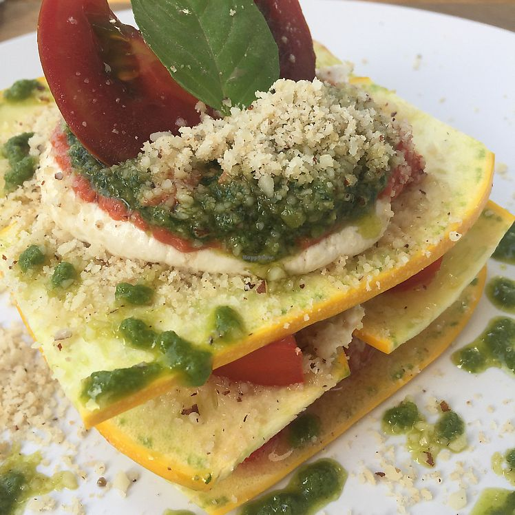 """Photo of Gioia Plant-Based Cuisine  by <a href=""""/members/profile/JudyNadel"""">JudyNadel</a> <br/>raw lasagna  <br/> July 24, 2017  - <a href='/contact/abuse/image/74628/284394'>Report</a>"""