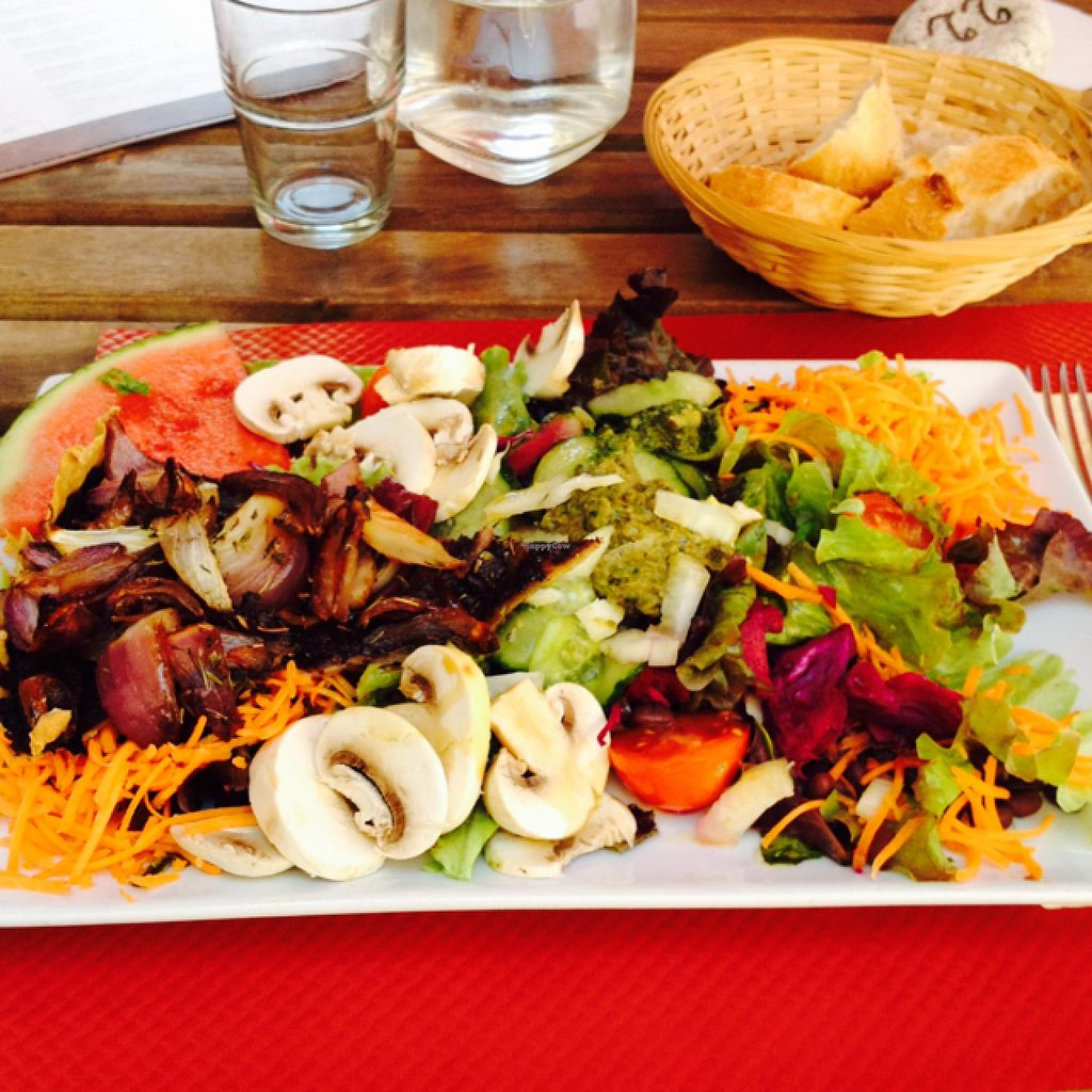 """Photo of Le Cafe Botanique  by <a href=""""/members/profile/Spirulina"""">Spirulina</a> <br/>mosaic salad <br/> July 11, 2016  - <a href='/contact/abuse/image/74630/159167'>Report</a>"""