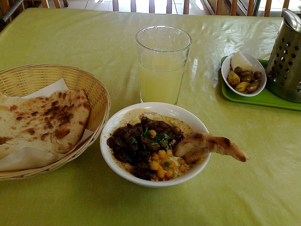 """Photo of Badra  by <a href=""""/members/profile/DanielaQeletti"""">DanielaQeletti</a> <br/>Small Hummus with Mushrooms <br/> June 22, 2017  - <a href='/contact/abuse/image/74645/272177'>Report</a>"""