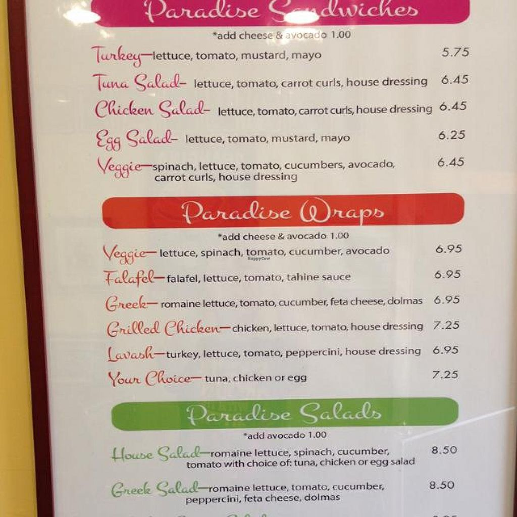 """Photo of Paradise Juice and Deli  by <a href=""""/members/profile/Flouffy"""">Flouffy</a> <br/>some of their food <br/> August 26, 2014  - <a href='/contact/abuse/image/7464/78311'>Report</a>"""
