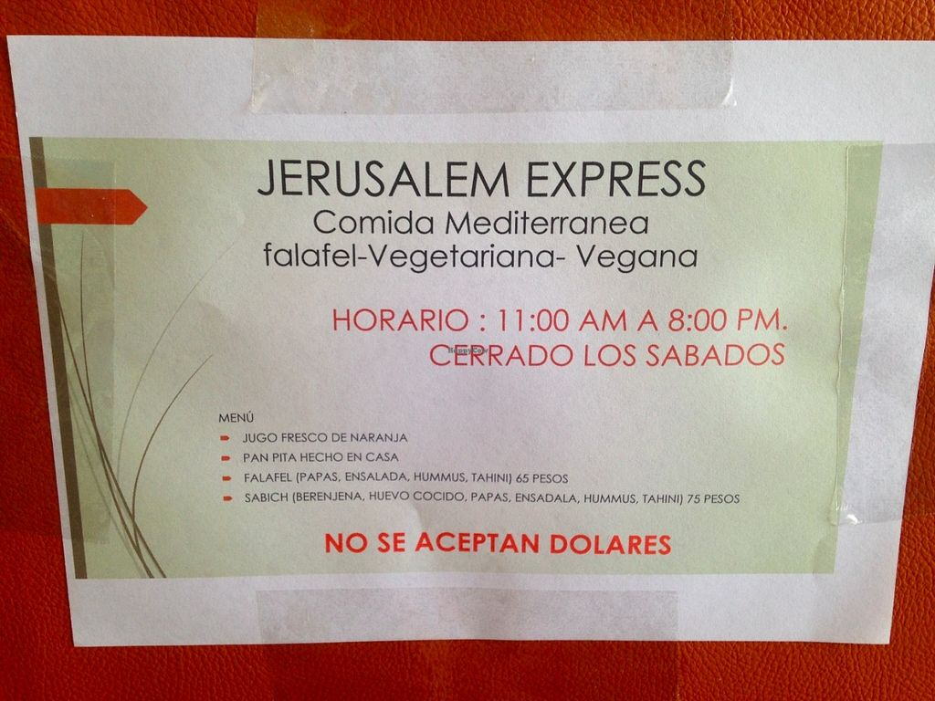 "Photo of Jerusalem Express - Food Stand  by <a href=""/members/profile/sophieschaber"">sophieschaber</a> <br/>summer season opening hours <br/> June 5, 2016  - <a href='/contact/abuse/image/74651/152435'>Report</a>"