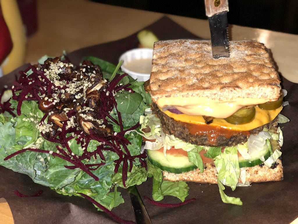 """Photo of Boon Burger Cafe  by <a href=""""/members/profile/Veggie%20J"""">Veggie J</a> <br/>Friggin Yummy!!  awesome burgers.  <br/> November 27, 2017  - <a href='/contact/abuse/image/74657/329889'>Report</a>"""