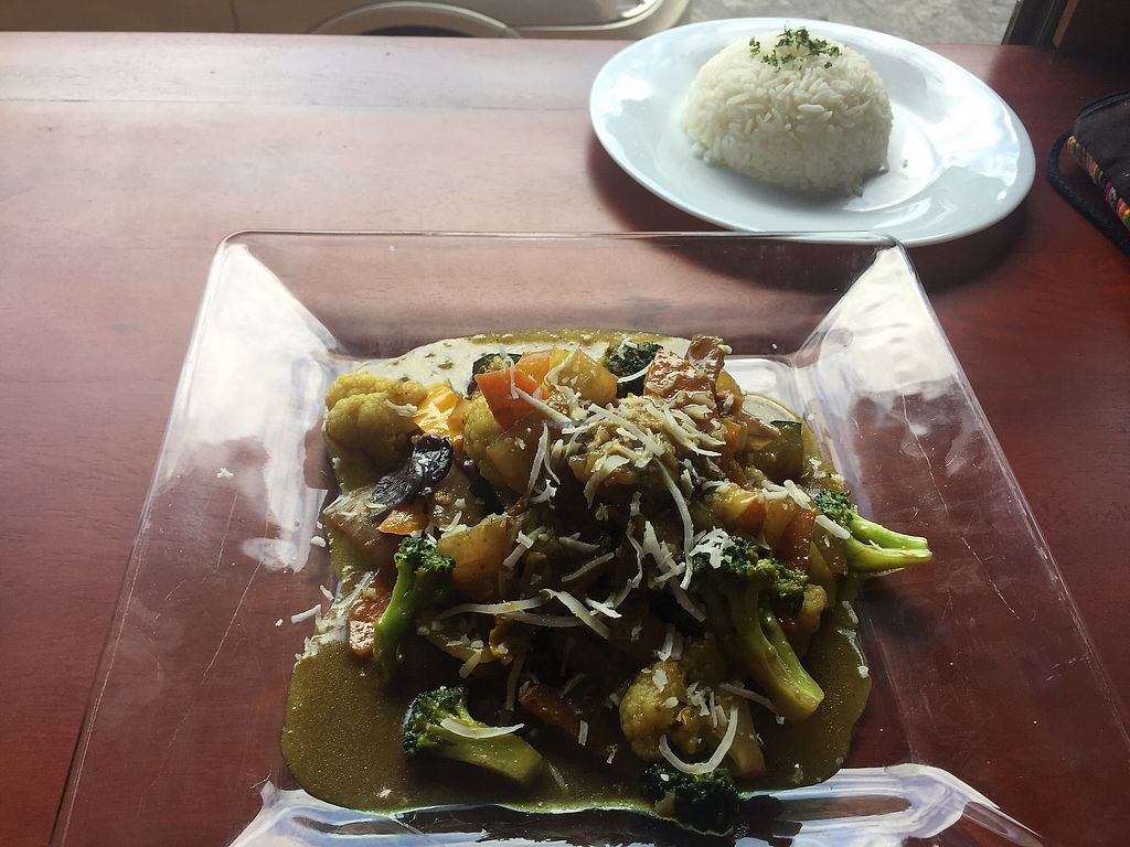 """Photo of Cafe Good  by <a href=""""/members/profile/Dianebg"""">Dianebg</a> <br/>Thai curry and rice  <br/> November 17, 2017  - <a href='/contact/abuse/image/74665/326438'>Report</a>"""