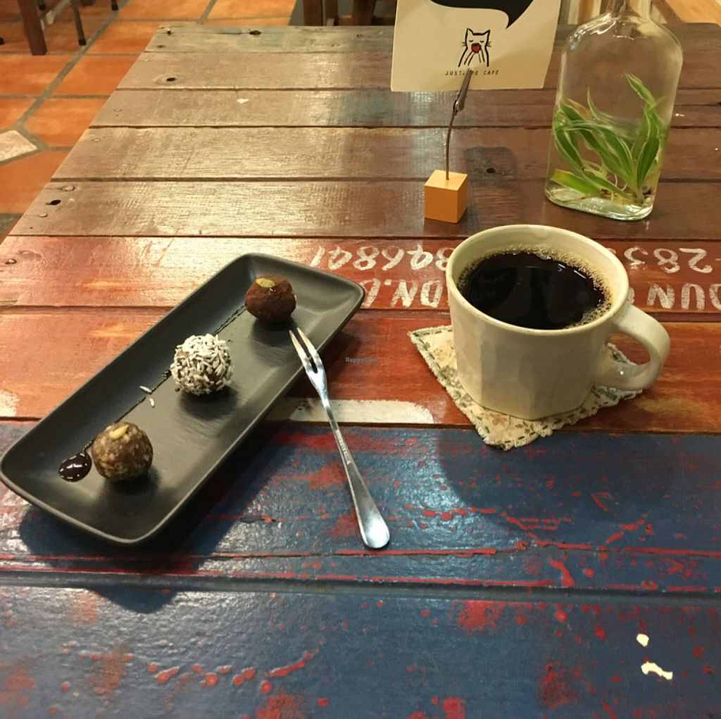 """Photo of Justlife Cafe  by <a href=""""/members/profile/Spaghetti_monster"""">Spaghetti_monster</a> <br/>bliss balls and coffee  <br/> June 5, 2016  - <a href='/contact/abuse/image/74667/152376'>Report</a>"""