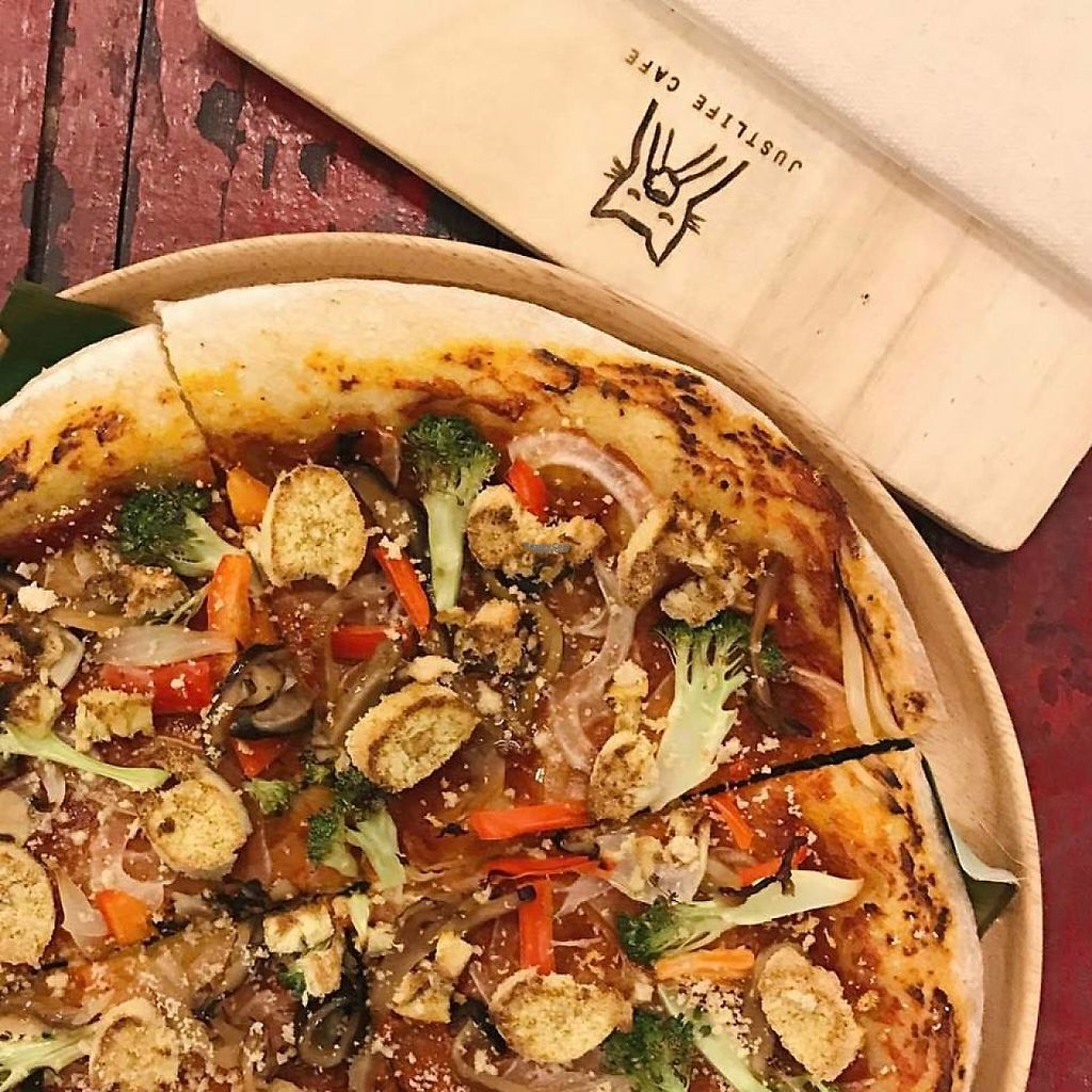 Photo of Justlife Cafe  by Raphael_Dane <br/>Vegan sourdough pizza <br/> January 20, 2017  - <a href='/contact/abuse/image/74667/213544'>Report</a>