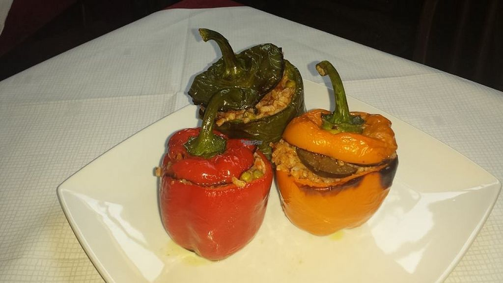 """Photo of La Grotta  by <a href=""""/members/profile/Meaks"""">Meaks</a> <br/>Vegan stuffed peppers <br/> August 2, 2016  - <a href='/contact/abuse/image/74705/164714'>Report</a>"""