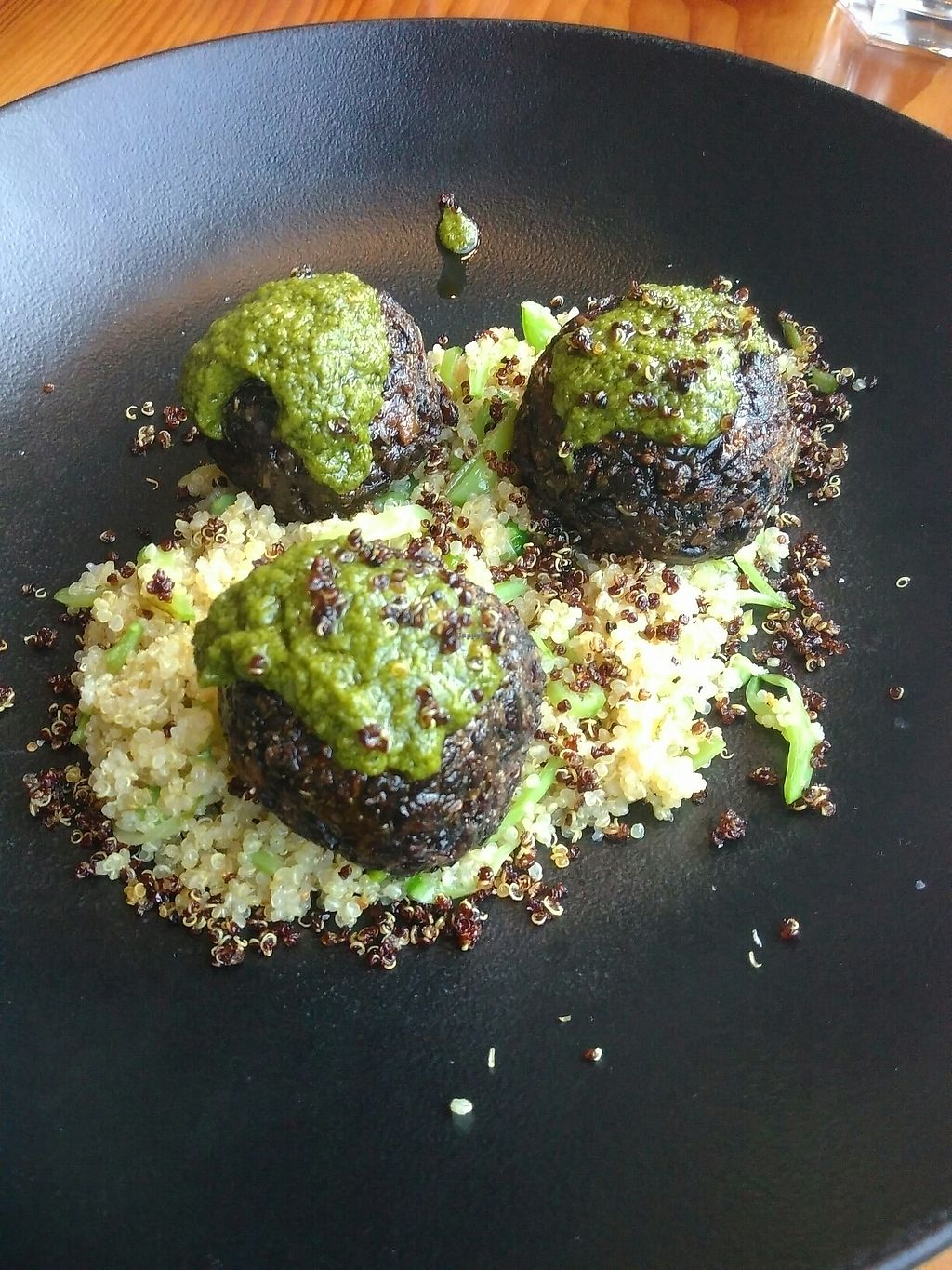 """Photo of SoBo  by <a href=""""/members/profile/ibenaj"""">ibenaj</a> <br/>Lentil meatballs with quinoa and chimchurri <br/> July 11, 2017  - <a href='/contact/abuse/image/74706/278960'>Report</a>"""