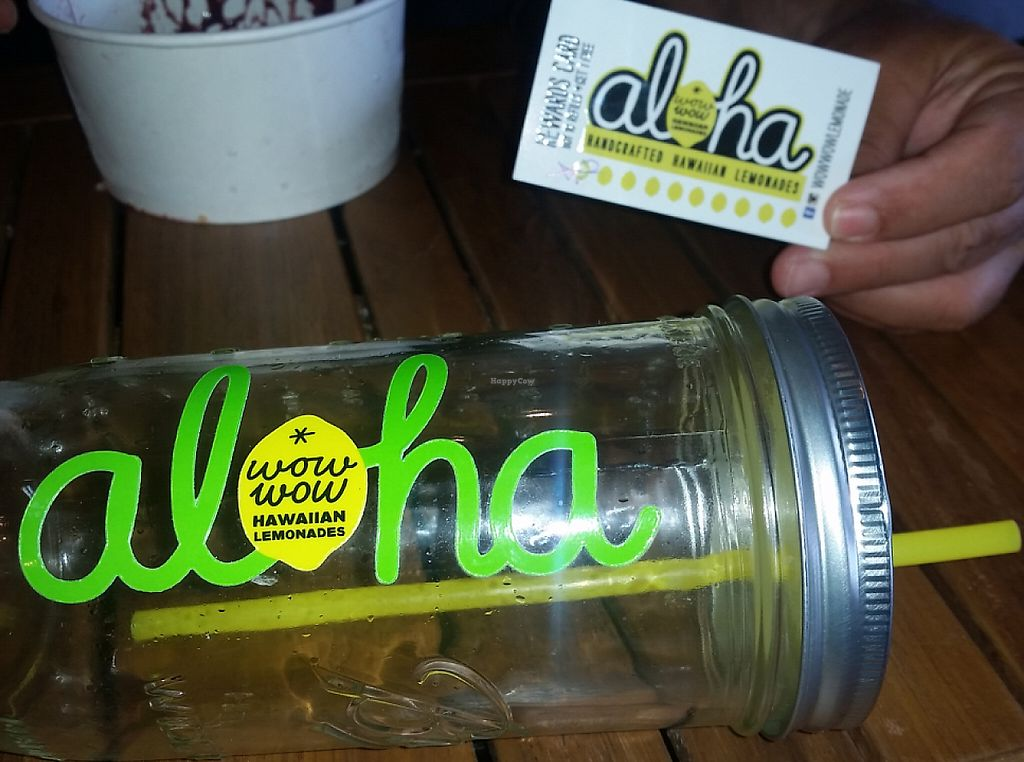 """Photo of Wow Wow Hawaiian Lemonade  by <a href=""""/members/profile/DavidD"""">DavidD</a> <br/>Wow wow refillable lemonade jar <br/> June 6, 2016  - <a href='/contact/abuse/image/74708/199492'>Report</a>"""