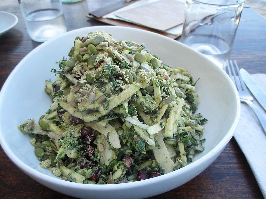 "Photo of Evergreen Organics  by <a href=""/members/profile/AnnaWacker"">AnnaWacker</a> <br/>Really delicious kale salad. Yum! <br/> January 18, 2018  - <a href='/contact/abuse/image/74739/347975'>Report</a>"