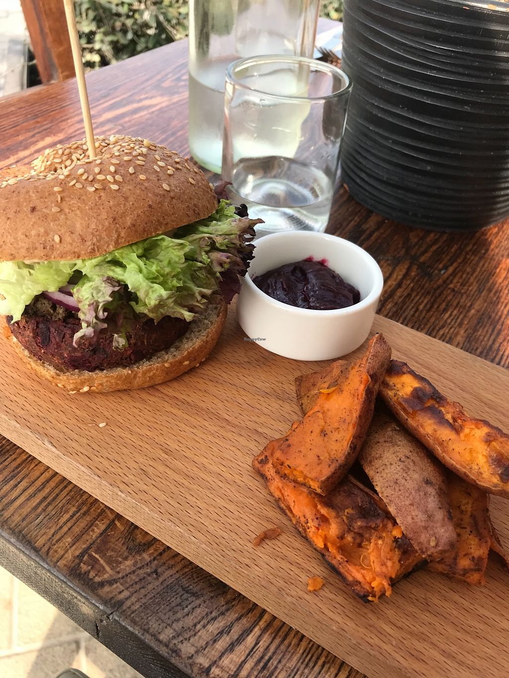 "Photo of Evergreen Organics  by <a href=""/members/profile/AshleighC"">AshleighC</a> <br/>The badass burger and sweet potato wedges <br/> February 23, 2018  - <a href='/contact/abuse/image/74739/362832'>Report</a>"