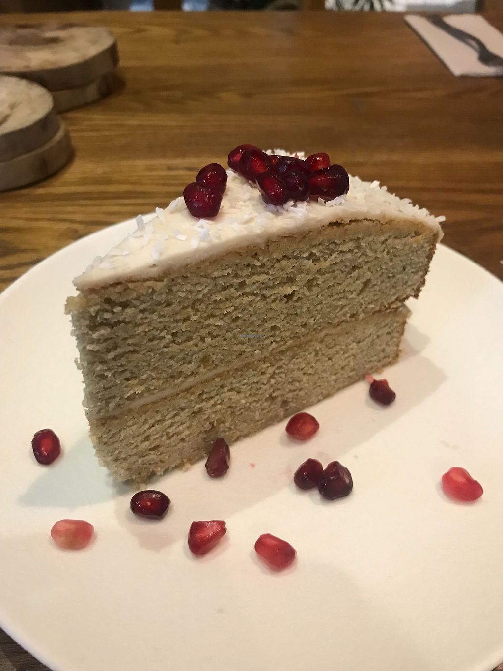 "Photo of Evergreen Organics  by <a href=""/members/profile/AshleighC"">AshleighC</a> <br/>Vegan coconut cake <br/> February 24, 2018  - <a href='/contact/abuse/image/74739/363220'>Report</a>"