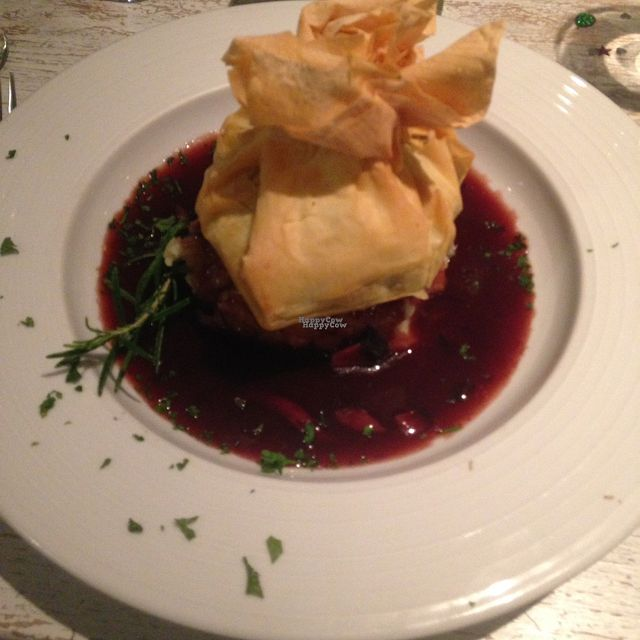 """Photo of The Essex  by <a href=""""/members/profile/MeganWest"""">MeganWest</a> <br/>mushroom and sage filo parcel  <br/> September 1, 2016  - <a href='/contact/abuse/image/74742/172928'>Report</a>"""