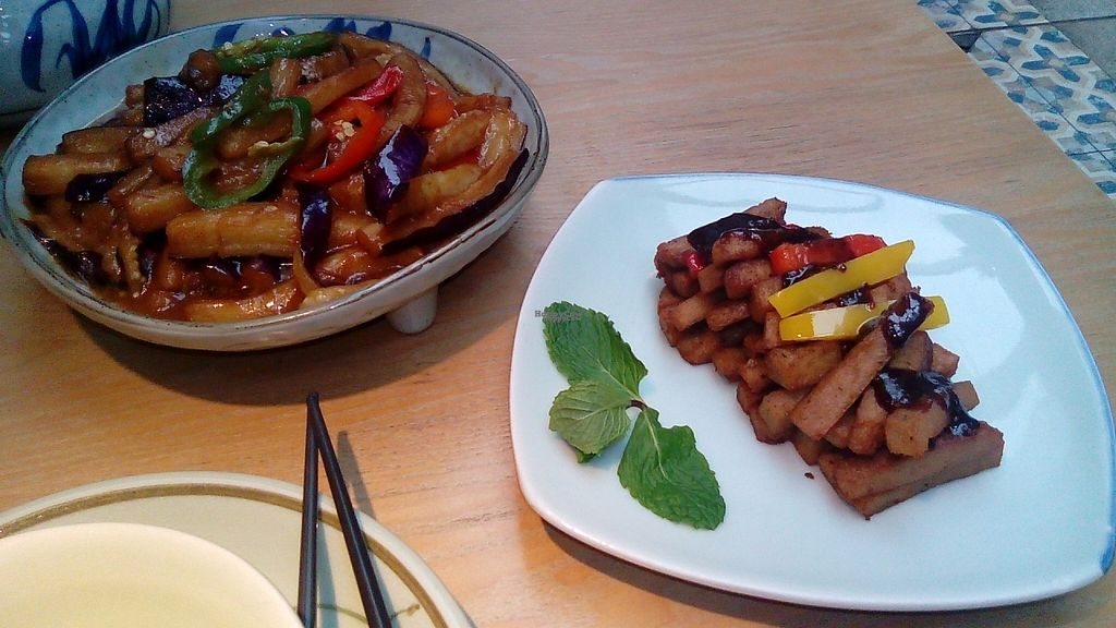 """Photo of Lao Fo Ye  by <a href=""""/members/profile/darkrabbit"""">darkrabbit</a> <br/>Lao Fo Ye - food some eggplant and tofu <br/> November 30, 2016  - <a href='/contact/abuse/image/74751/196087'>Report</a>"""