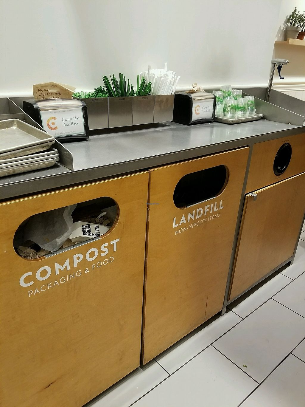 """Photo of HipCityVeg  by <a href=""""/members/profile/LolaBelle"""">LolaBelle</a> <br/>loved the separate rubbish bins for compost and landfill!  <br/> March 2, 2018  - <a href='/contact/abuse/image/74759/365874'>Report</a>"""