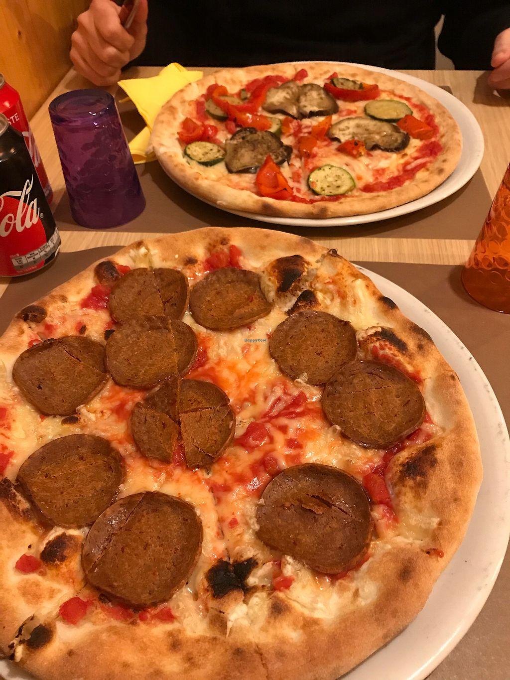 """Photo of Ai 6 Angoli  by <a href=""""/members/profile/Bianka"""">Bianka</a> <br/>""""Salami"""" and grilled veggie pizzas <br/> February 23, 2018  - <a href='/contact/abuse/image/74783/362889'>Report</a>"""