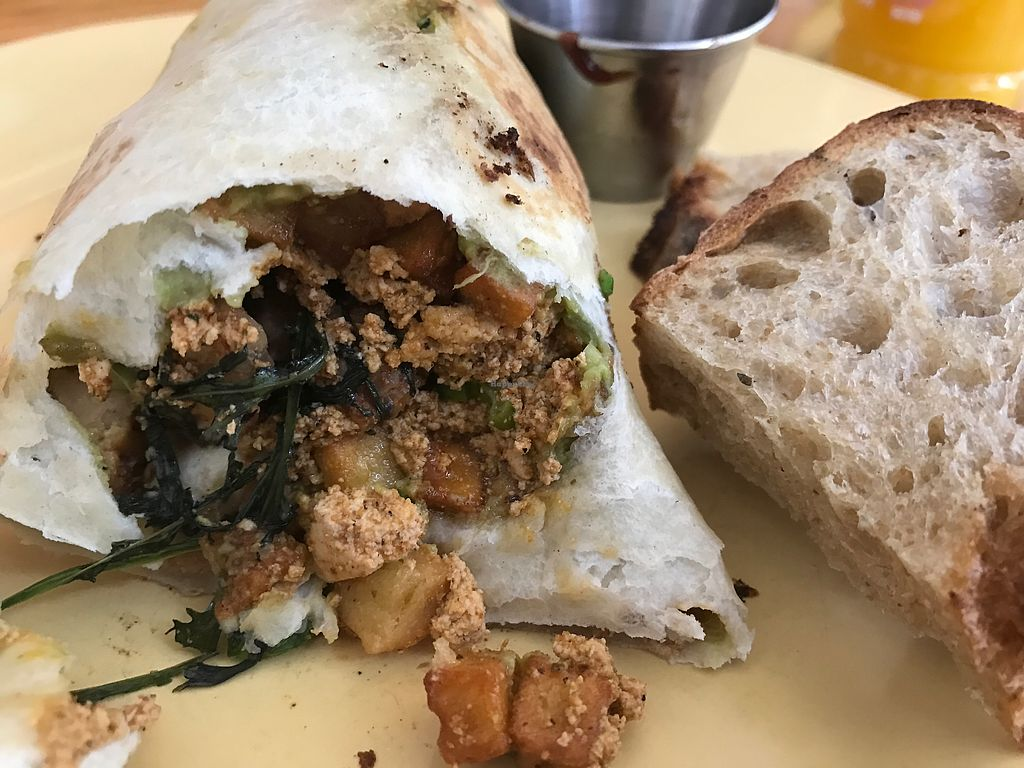 """Photo of OliBea  by <a href=""""/members/profile/TofuTrey"""">TofuTrey</a> <br/>Vegan breakfast burrito <br/> May 23, 2018  - <a href='/contact/abuse/image/74798/403675'>Report</a>"""