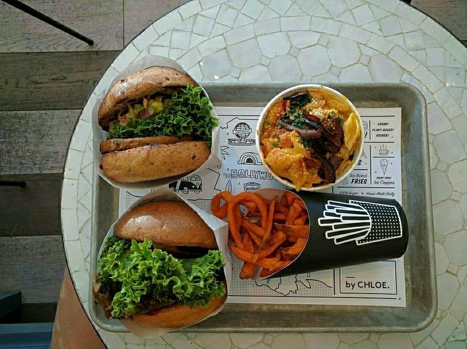 """Photo of By Chloe  by <a href=""""/members/profile/uschiverena"""">uschiverena</a> <br/>classic and guac burger with sweet potato fries and Mac and cheese <br/> October 21, 2016  - <a href='/contact/abuse/image/74813/183331'>Report</a>"""