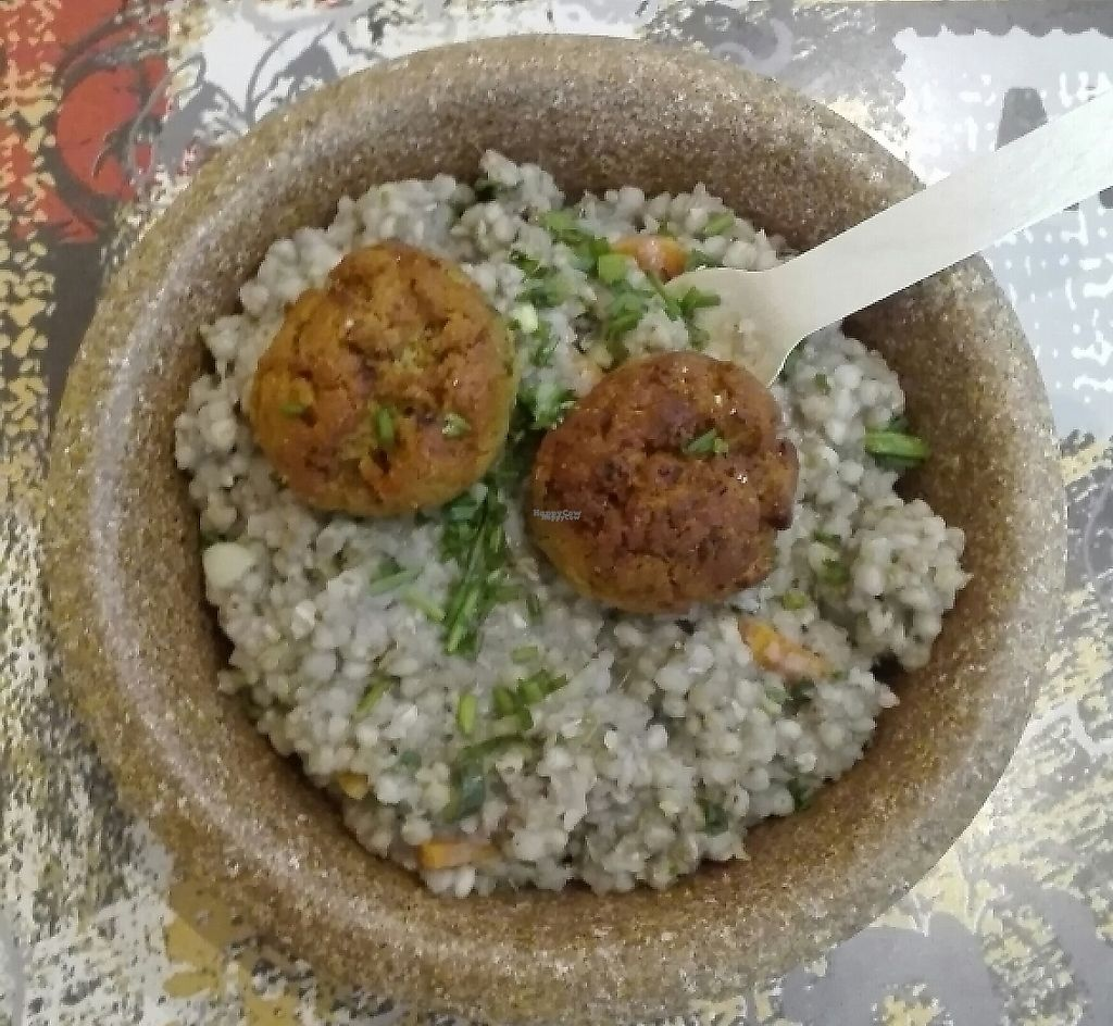 """Photo of CLOSED: Zaziv Vegan Bistro  by <a href=""""/members/profile/tinabratina"""">tinabratina</a> <br/>buckwheat with bean and carrot patties/balls :) <br/> January 28, 2017  - <a href='/contact/abuse/image/74820/243804'>Report</a>"""