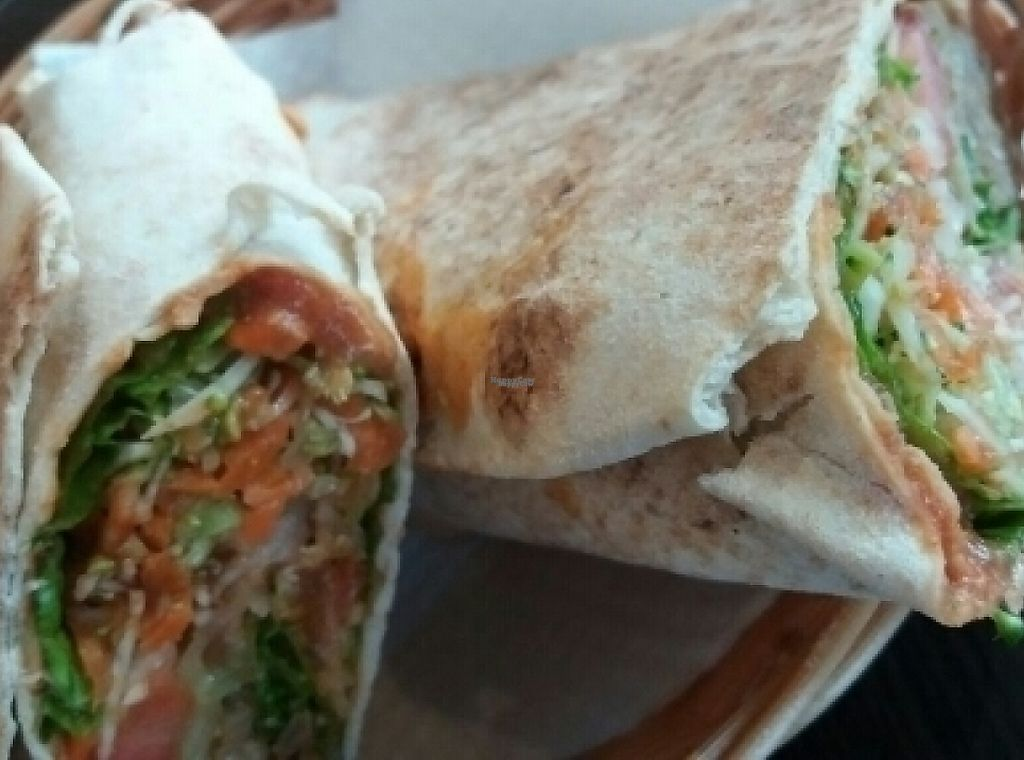 """Photo of CLOSED: Zaziv Vegan Bistro  by <a href=""""/members/profile/die_woelffe"""">die_woelffe</a> <br/>Dorenc Wrap with extra green onions <br/> August 4, 2016  - <a href='/contact/abuse/image/74820/243808'>Report</a>"""