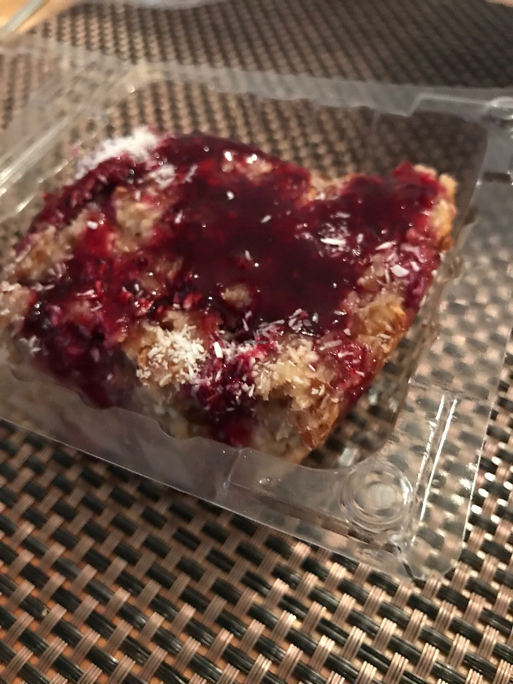"""Photo of CLOSED: Zaziv Vegan Bistro  by <a href=""""/members/profile/candybaaby"""">candybaaby</a> <br/>Blueberry dessert <br/> September 11, 2017  - <a href='/contact/abuse/image/74820/303298'>Report</a>"""