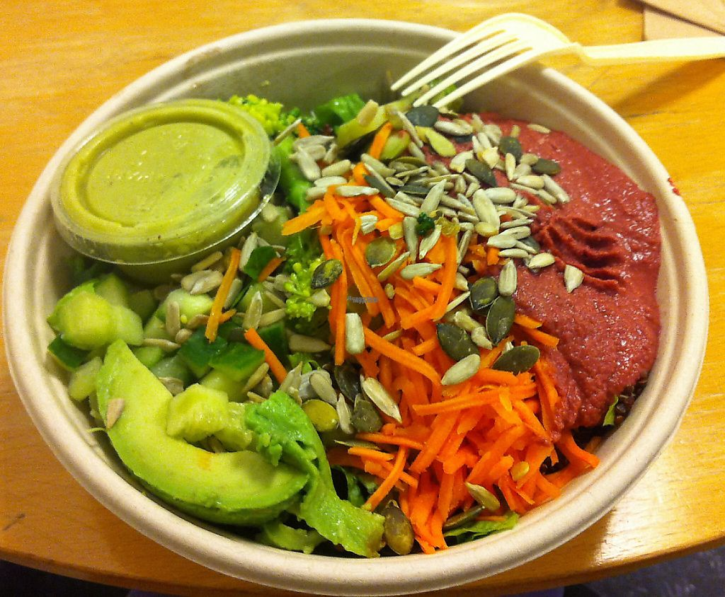 """Photo of Holy Greens  by <a href=""""/members/profile/piffelina"""">piffelina</a> <br/>Vegan salad from Holy Greens <br/> December 22, 2016  - <a href='/contact/abuse/image/74821/244125'>Report</a>"""