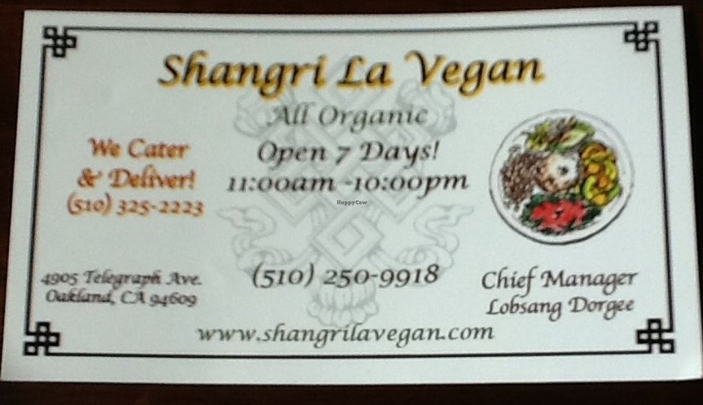 """Photo of Shangri-La Vegan - Telegraph  by <a href=""""/members/profile/MizzB"""">MizzB</a> <br/>In business <br/> June 10, 2016  - <a href='/contact/abuse/image/74865/153245'>Report</a>"""