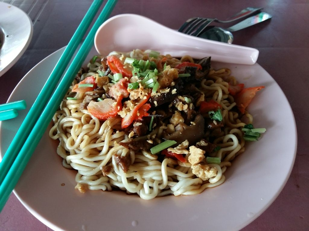 """Photo of CLOSED: Da Jie Healthy Vegetarian Food  by <a href=""""/members/profile/AsparagusCarrot"""">AsparagusCarrot</a> <br/>Dried mushrooms noodles <br/> June 10, 2016  - <a href='/contact/abuse/image/74874/153219'>Report</a>"""