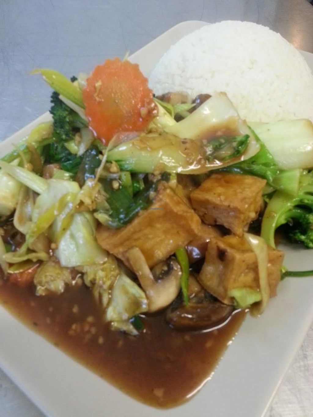 """Photo of The Junction  by <a href=""""/members/profile/LauraStone90"""">LauraStone90</a> <br/>Pak Choi, Tofu & Mixed Veg Stir-fry <br/> June 15, 2016  - <a href='/contact/abuse/image/74911/154100'>Report</a>"""