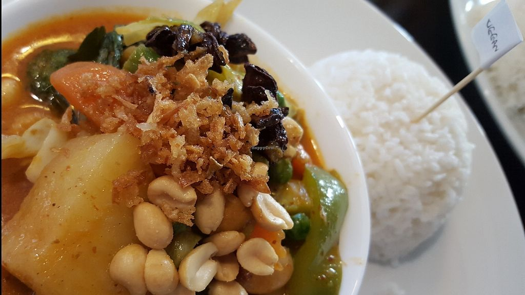"""Photo of The Junction  by <a href=""""/members/profile/VeganAnnaS"""">VeganAnnaS</a> <br/>Vegan (tofu, beans, veg) massaman curry <br/> June 13, 2017  - <a href='/contact/abuse/image/74911/268563'>Report</a>"""
