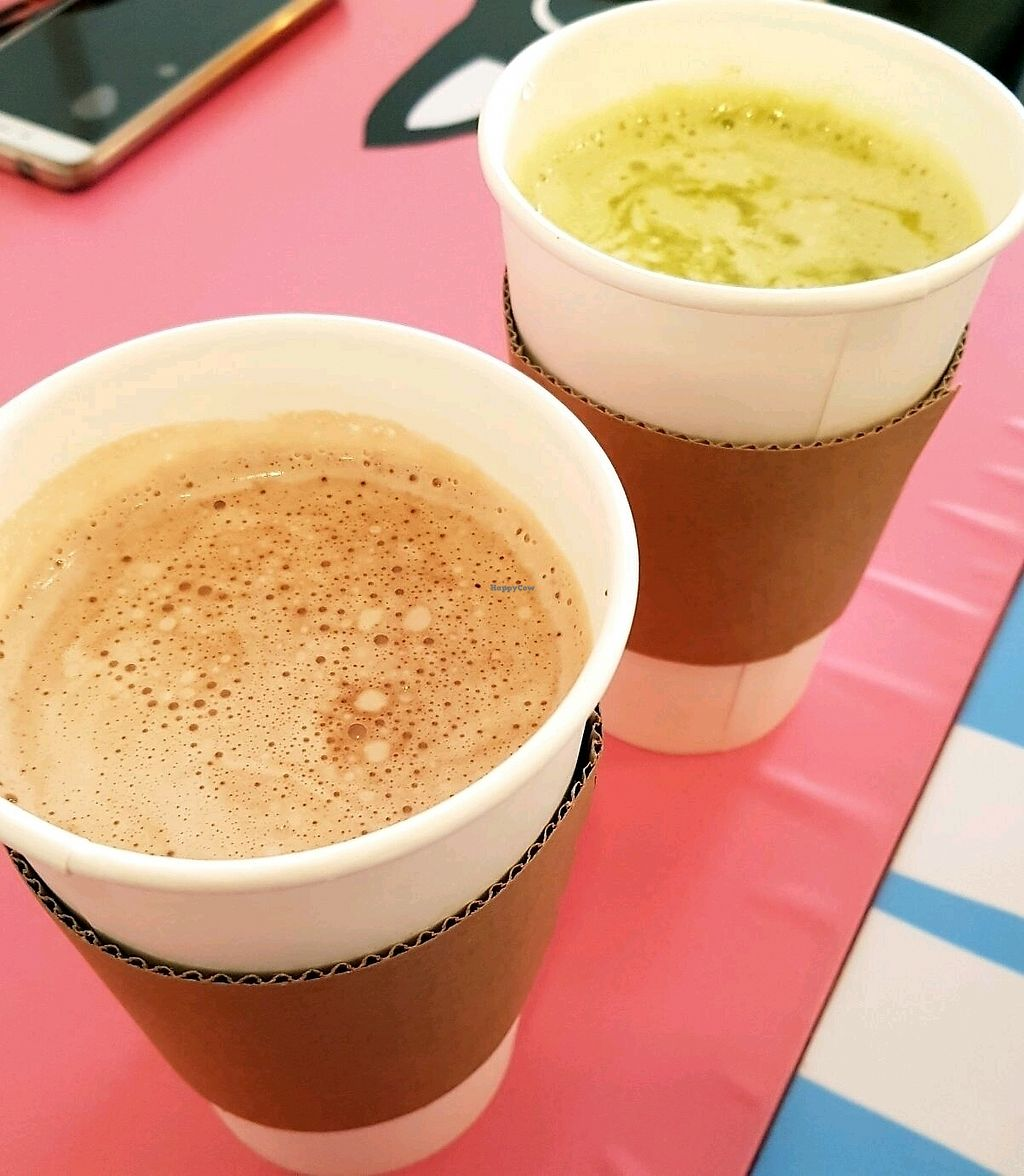 """Photo of Haemil Bakery  by <a href=""""/members/profile/HilaElkabetz"""">HilaElkabetz</a> <br/>choco latte and green tea latte <br/> October 16, 2017  - <a href='/contact/abuse/image/74914/315779'>Report</a>"""