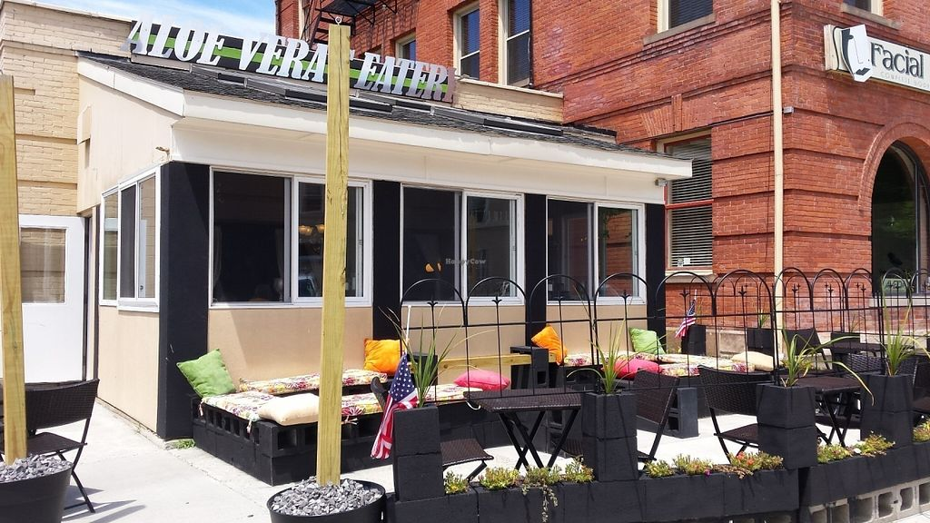 """Photo of Aloe Vera's Eatery  by <a href=""""/members/profile/American%20Vegan"""">American Vegan</a> <br/>Charming place on corner of Center & Church St <br/> July 16, 2016  - <a href='/contact/abuse/image/74918/160266'>Report</a>"""