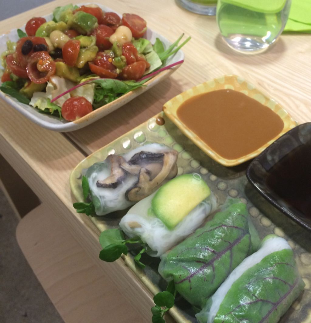 "Photo of Rulla  by <a href=""/members/profile/SeitanSeitanSeitan"">SeitanSeitanSeitan</a> <br/>Vegan rolls and avocado tomato salad <br/> June 13, 2016  - <a href='/contact/abuse/image/74947/153775'>Report</a>"