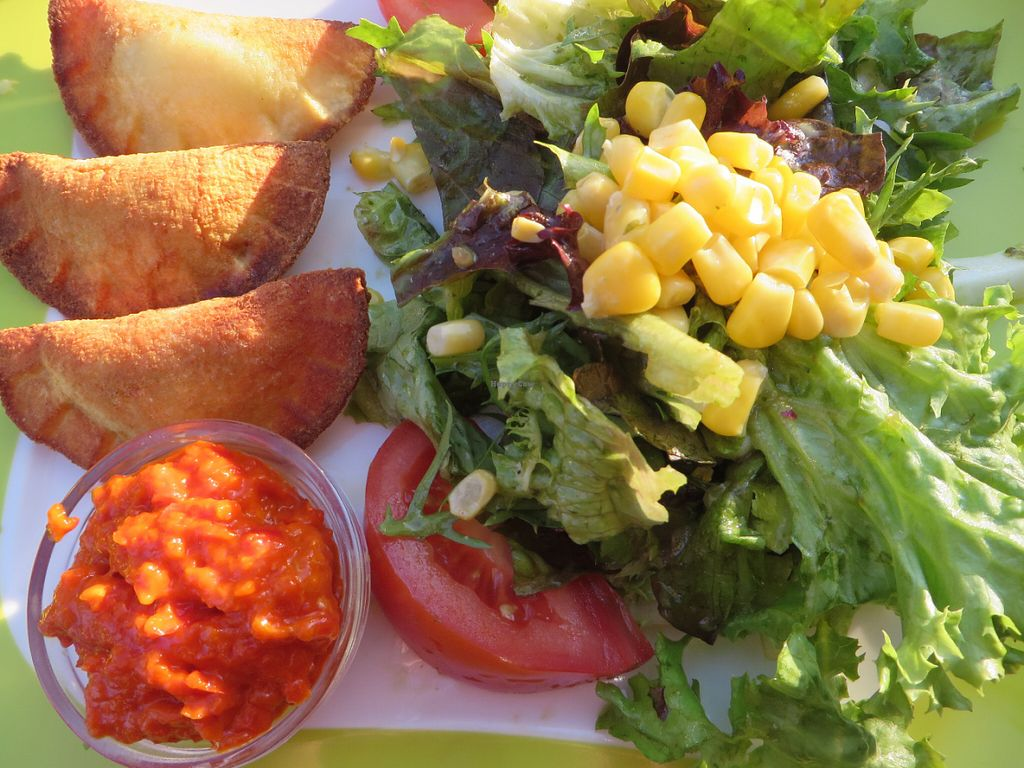 """Photo of Die Kartoffel  by <a href=""""/members/profile/VegiAnna"""">VegiAnna</a> <br/>gnocchi with side salad <br/> June 14, 2016  - <a href='/contact/abuse/image/74971/153902'>Report</a>"""