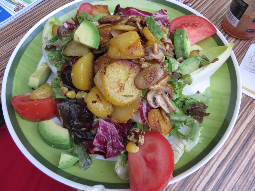 """Photo of Die Kartoffel  by <a href=""""/members/profile/VegiAnna"""">VegiAnna</a> <br/>vegan salad with nuts and fried potatoes <br/> September 30, 2016  - <a href='/contact/abuse/image/74971/178745'>Report</a>"""