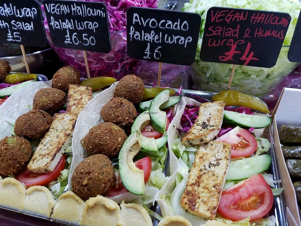 "Photo of Turkish Food Stall  by <a href=""/members/profile/eric"">eric</a> <br/>vegan falafel options <br/> September 23, 2017  - <a href='/contact/abuse/image/74980/307550'>Report</a>"