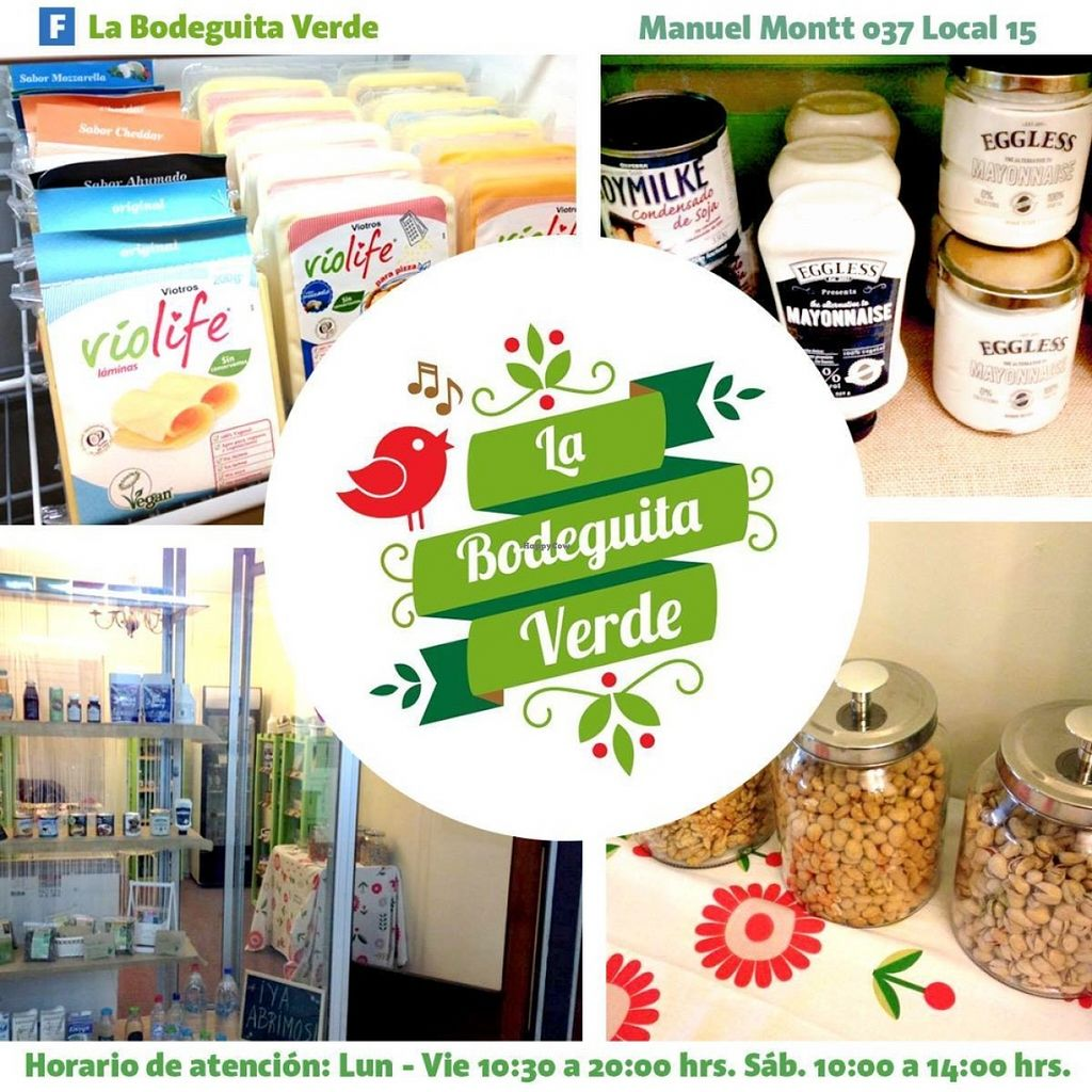"""Photo of La Bodeguita Verde  by <a href=""""/members/profile/LaBodeguitaVerde"""">LaBodeguitaVerde</a> <br/>Vegan store. We sell food products such as convenience foods, vegetable milk, bakery, vegan treats, sweets, chocolate, nuts, medicinal herbs, food supplements, juices, tea, aromatherapy, vegan cosmetics, among others. We also offer products for coeliacs, diabetics, lactose intolerants, and people who suffer from other food allergies <br/> June 17, 2016  - <a href='/contact/abuse/image/74988/154479'>Report</a>"""