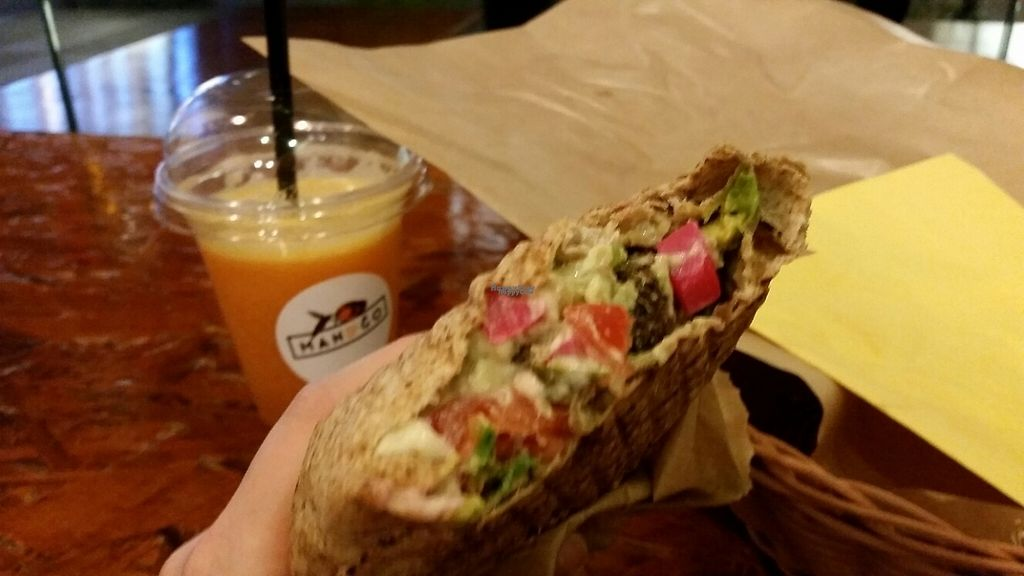 "Photo of Mango Vegan Street Food - Zlota  by <a href=""/members/profile/aggiem"">aggiem</a> <br/>Orange juice and small flat bread with pineapple and avocado <br/> April 8, 2017  - <a href='/contact/abuse/image/74990/245686'>Report</a>"