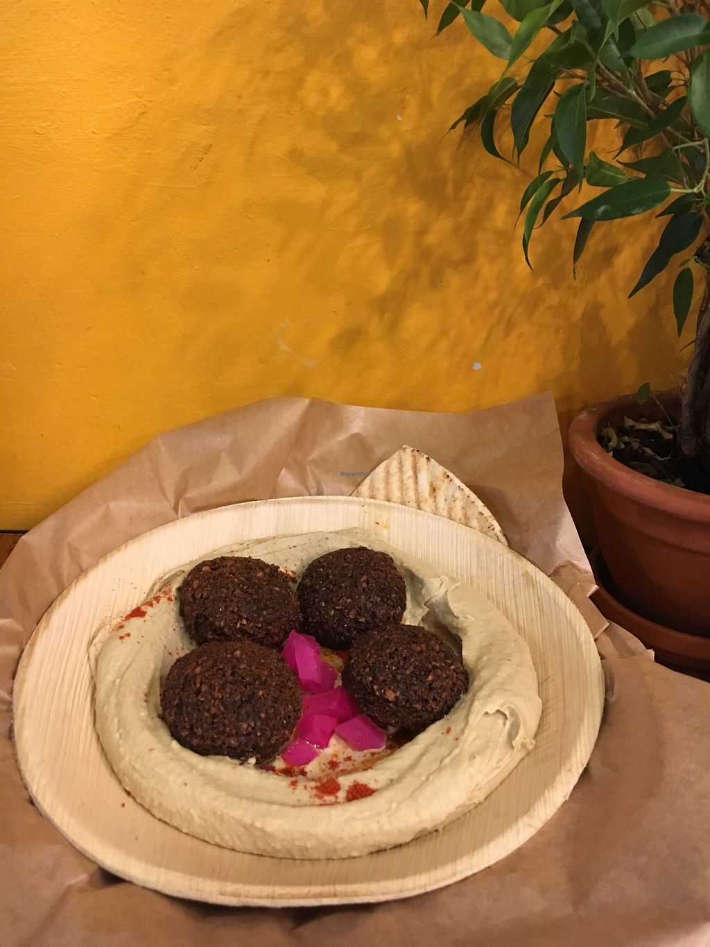 "Photo of Mango Vegan Street Food - Zlota  by <a href=""/members/profile/roz"">roz</a> <br/>hummus with falafels  <br/> November 24, 2017  - <a href='/contact/abuse/image/74990/328737'>Report</a>"