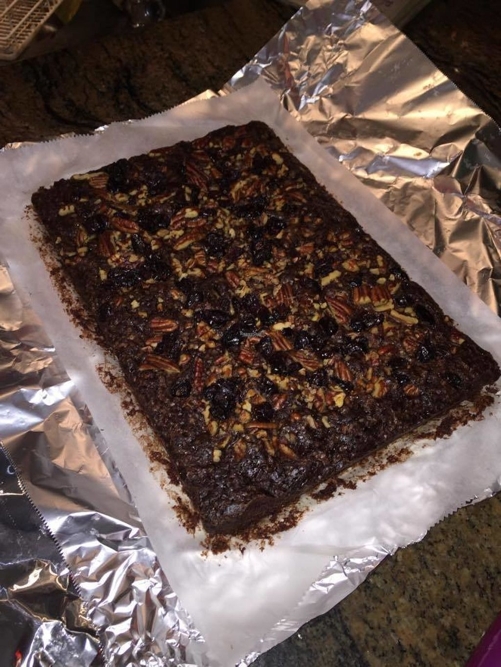"Photo of Amici Ristorante  by <a href=""/members/profile/Meaks"">Meaks</a> <br/>Vegan Pecan & Cranberry Brownie <br/> August 18, 2016  - <a href='/contact/abuse/image/75007/169678'>Report</a>"