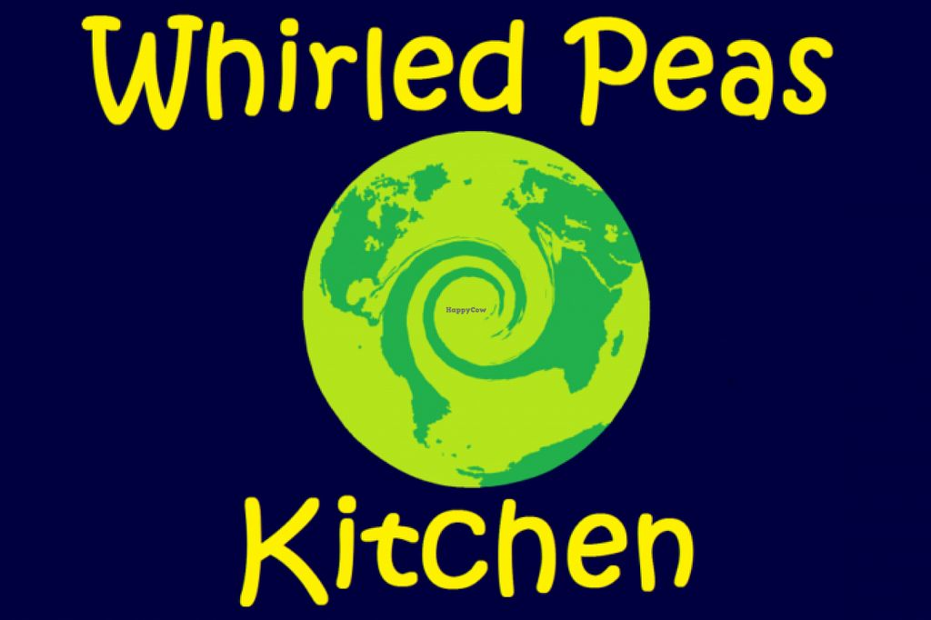 """Photo of Whirled Peas Kitchen  by <a href=""""/members/profile/Allanriv"""">Allanriv</a> <br/>We call our logo the """"Whirled World.""""  It kinda captures the flavor of our vegan international cuisine <br/> June 15, 2016  - <a href='/contact/abuse/image/75022/154140'>Report</a>"""