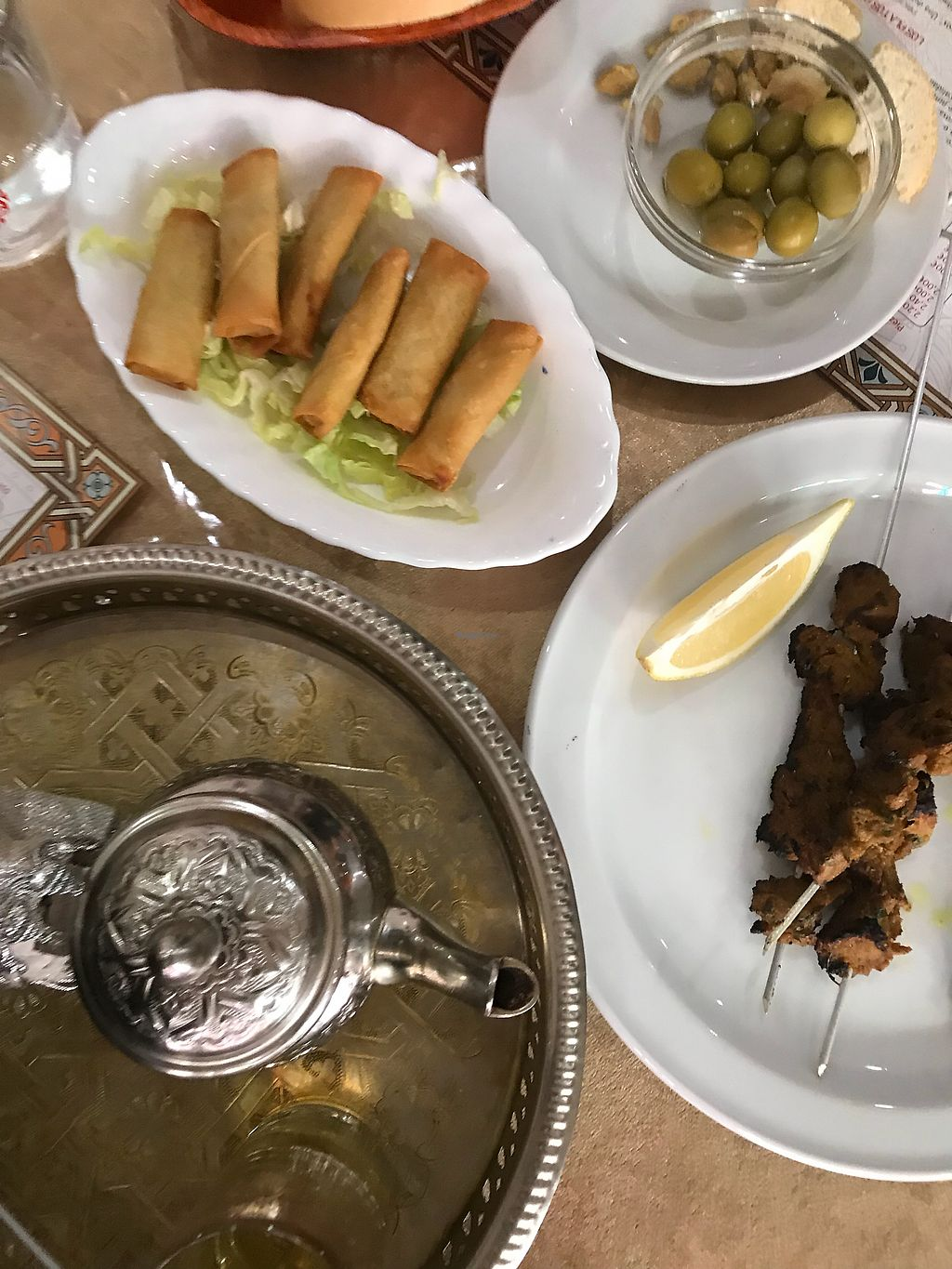 """Photo of Arabia Restaurante  by <a href=""""/members/profile/RonaldFerree"""">RonaldFerree</a> <br/>Pinchitos, aceitunas, y te! <br/> October 22, 2017  - <a href='/contact/abuse/image/75029/317659'>Report</a>"""